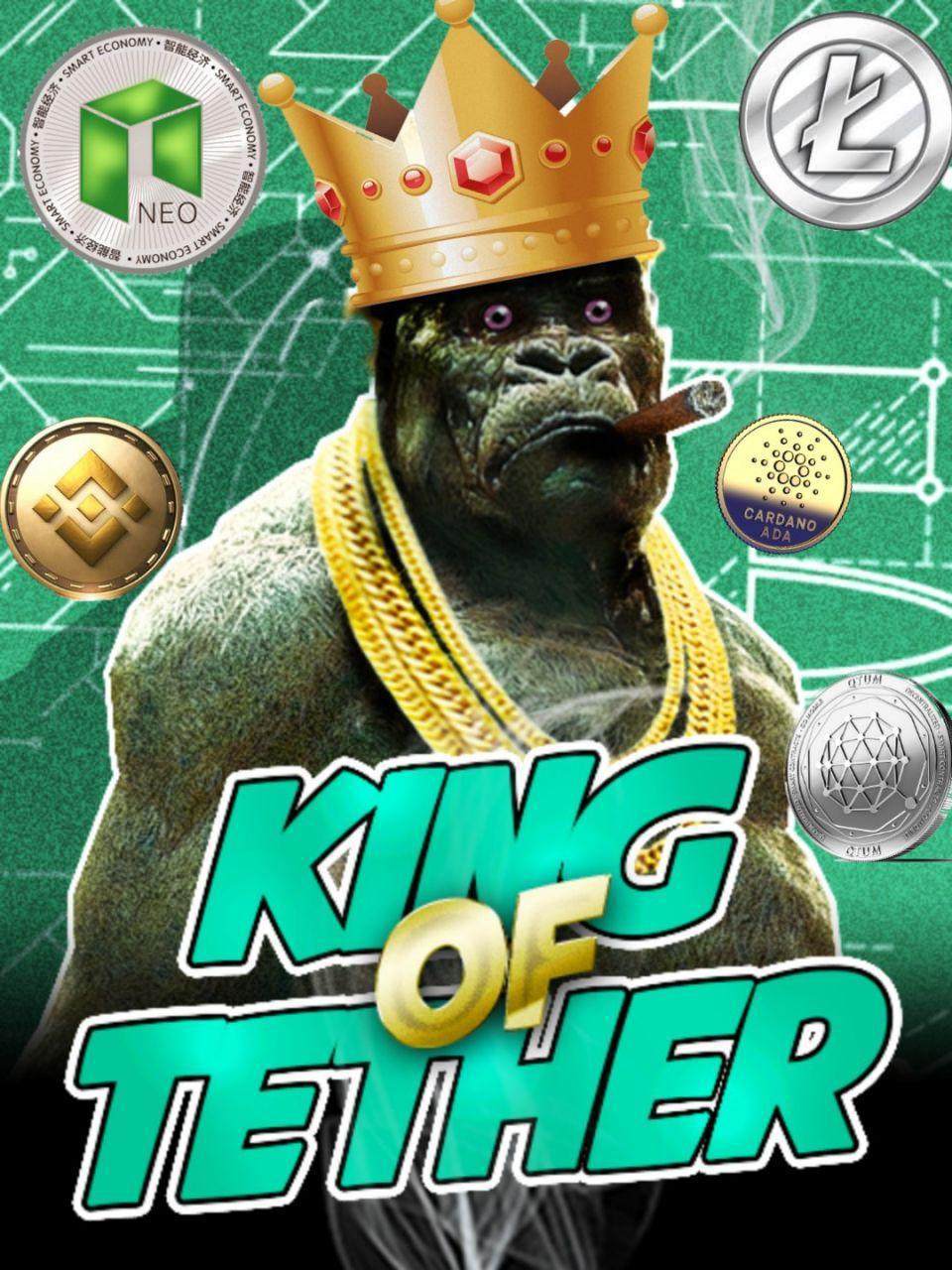 KING OF TETHER Kryll strategy poster