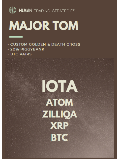 HUGIN - MAJOR TOM - PIGGY - IOTA/ATOM/ZIL/XRP/BTC Kryll strategy poster