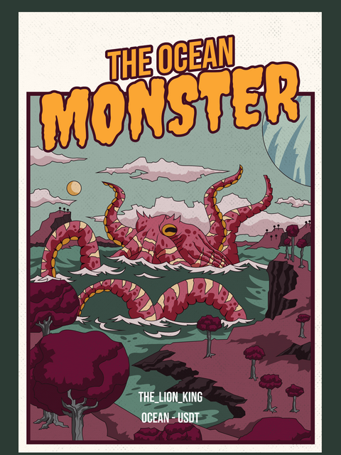 THE OCEAN MONSTER Kryll strategy poster